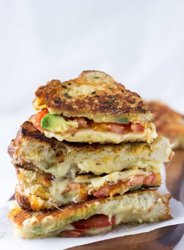 Grilled Two-Cheese Avocado Sammie Recipes — Dishmaps