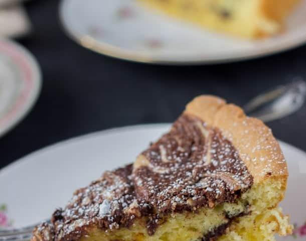 chocolate almond torte-3