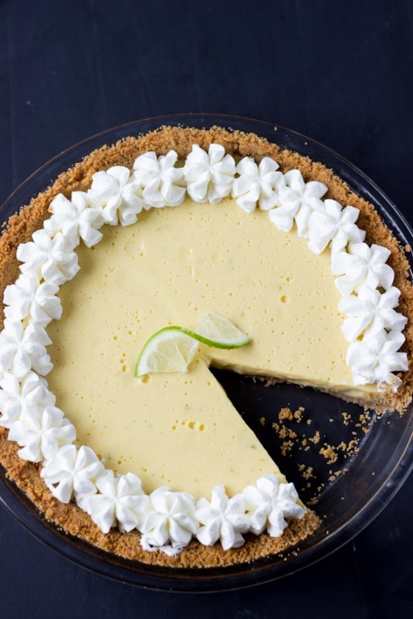 Classic Homemade Key Lime Pie Recipe - creamy, luscious and perfectly tart with fresh key lime juice. | BlahnikBaker.com