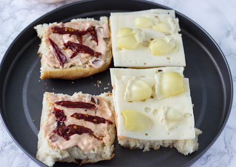 Foccacia Chipotle Sandwich (before broiling)-1