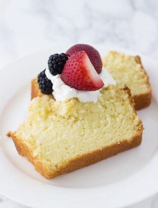 Meyer Lemon Angel Food Cake