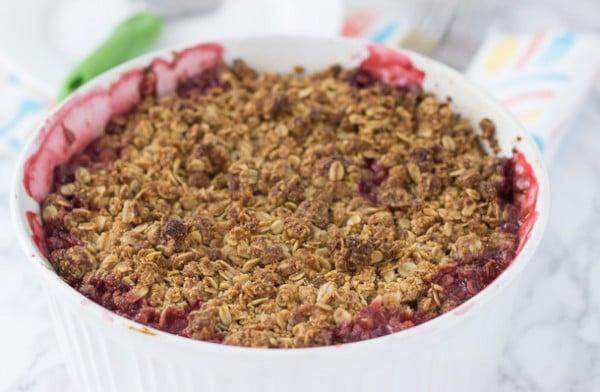 Strawberry Raspberry Rhubarb Crumble