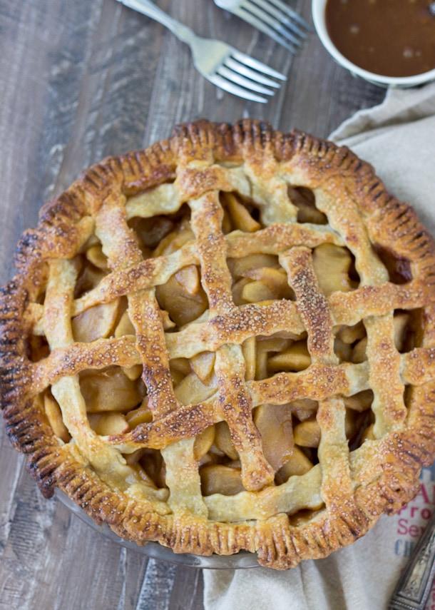 Caramel Apple Cheddar Pie
