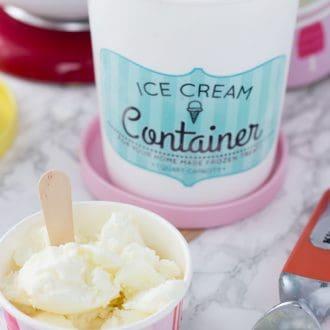 white chocolate rose frozen yogurt