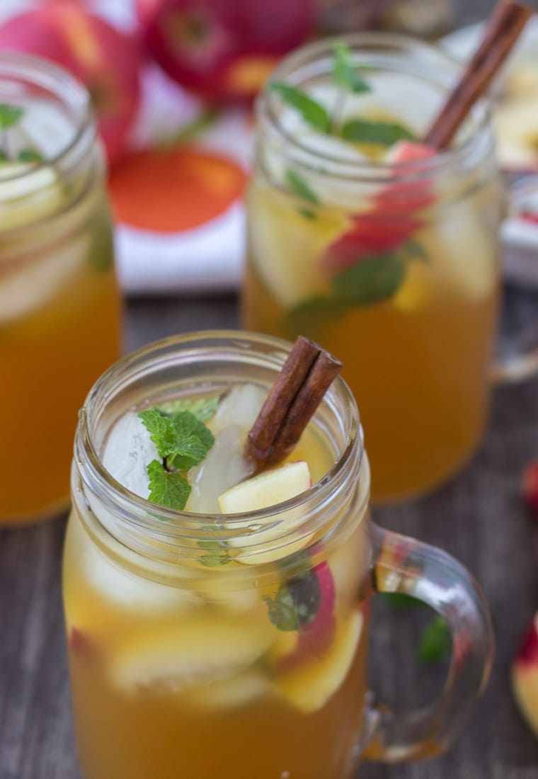 This apple cider mojito is a fall spin on a classic cocktail recipe that will keep you warm during those chilly days!