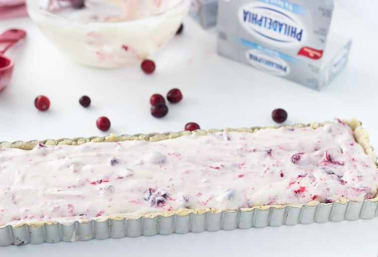 Cranberry Hazelnut Cream Cheese Tart