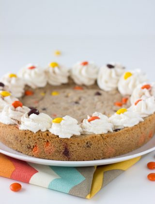 Snickerdoodle Peanut Butter Chocolate Cookie Cake