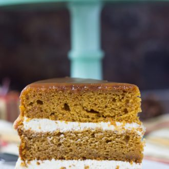 Naked Pumpkin Cake with Caramel Buttercream
