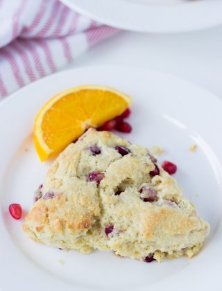 Pomegrante Orange Scones