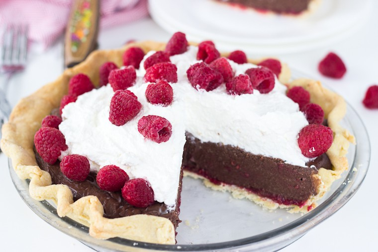 Raspberry Mocha Pie