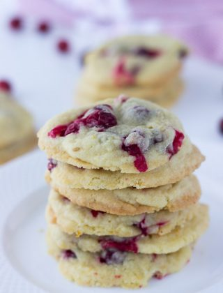 Cranberry Orange Vanilla Cookies