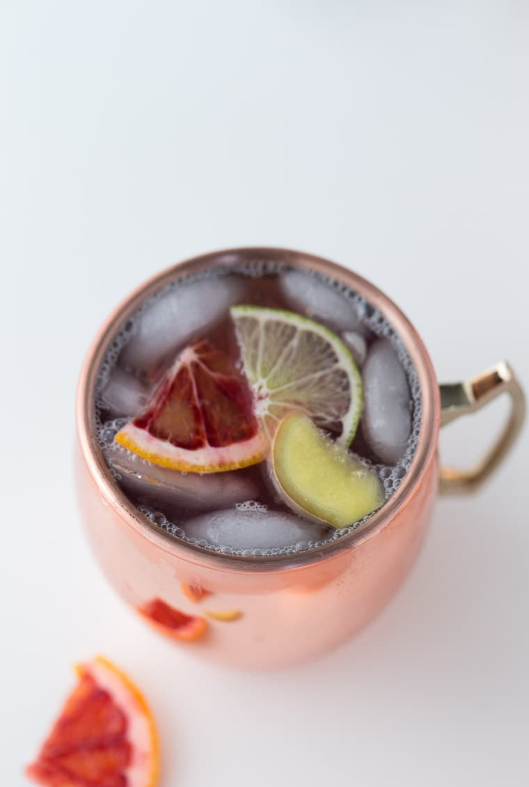 This Blood Orange Moscow Mule is easy, smooth and refreshing.