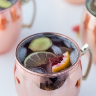 his Blood Orange Moscow Mule is easy, smooth and refreshing.