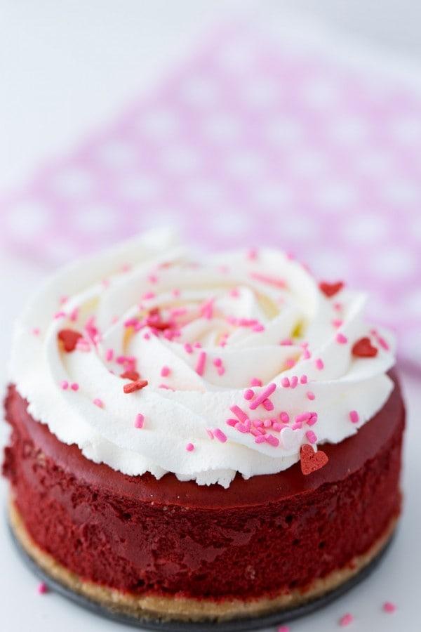 Mini Red Velvet Cheesecake - rich and creamy recipe