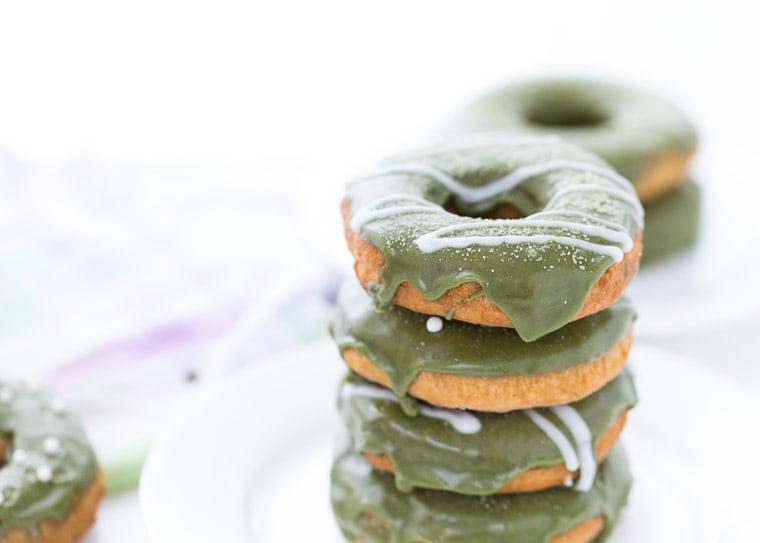 Coconut Matcha Donuts