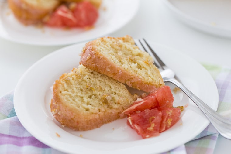 grapefruit vanilla bean pound cake