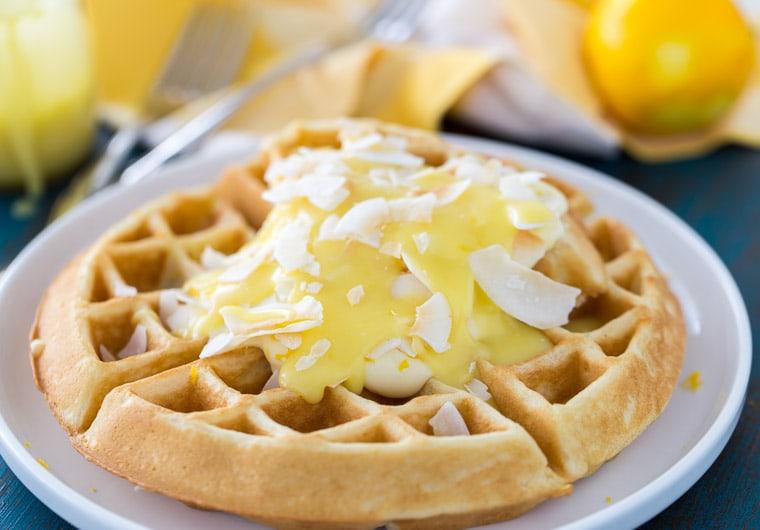 Coconut Lemon Creme Waffles