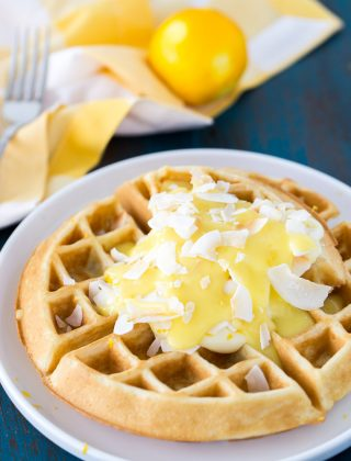 Coconut Lemon Creme Waffles