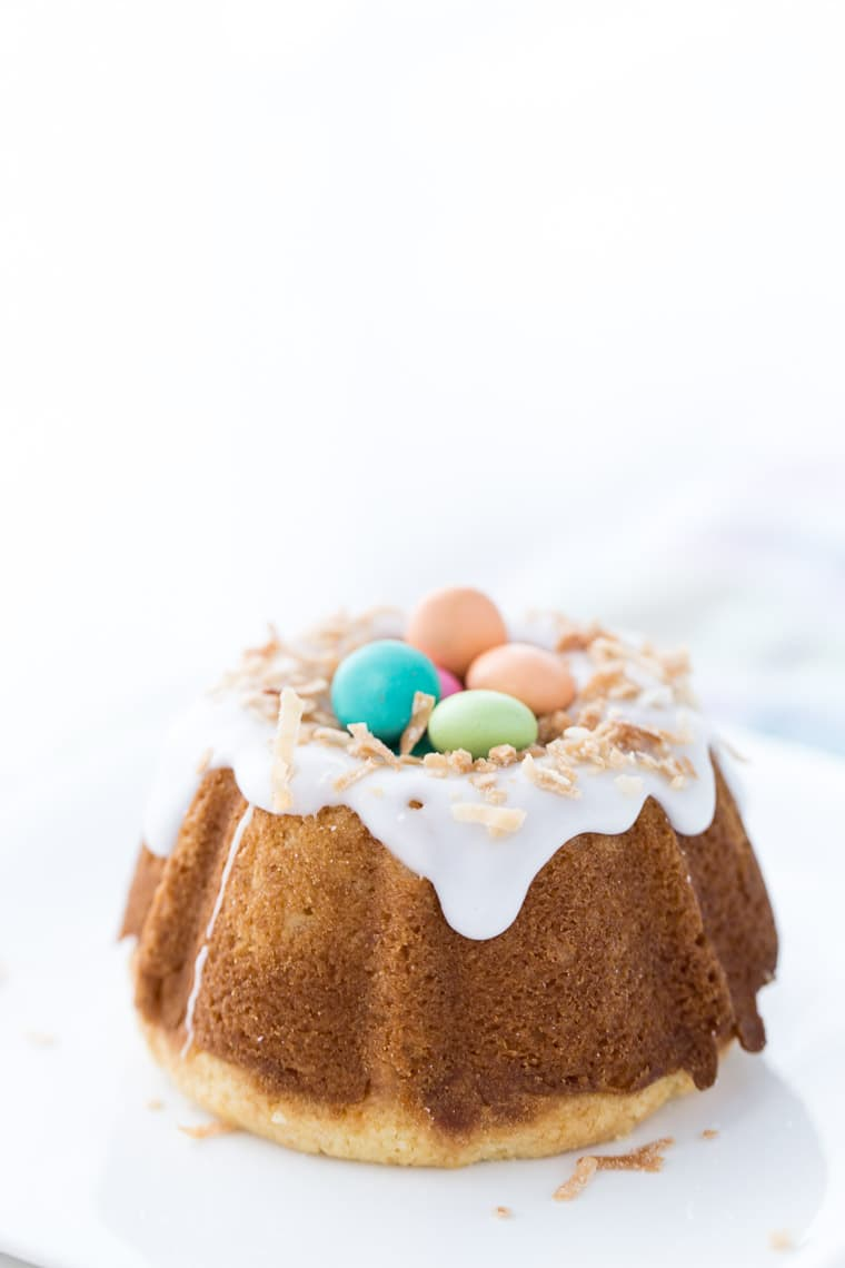 A soft and moist meyer lemon pound cake with coconut milk makes this coconut lemon pound cake an easy Easter recipe perfect for Spring.