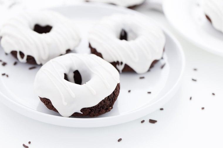 espresso donuts with baileys glaze