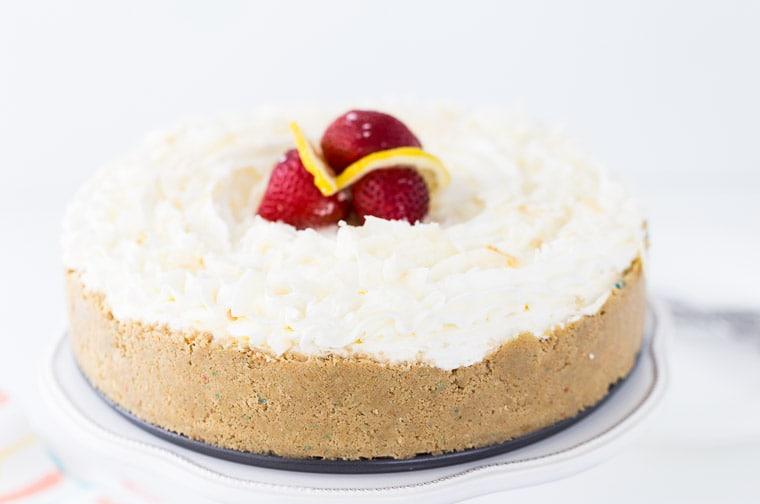 Lemon Macaroon Cheesecake