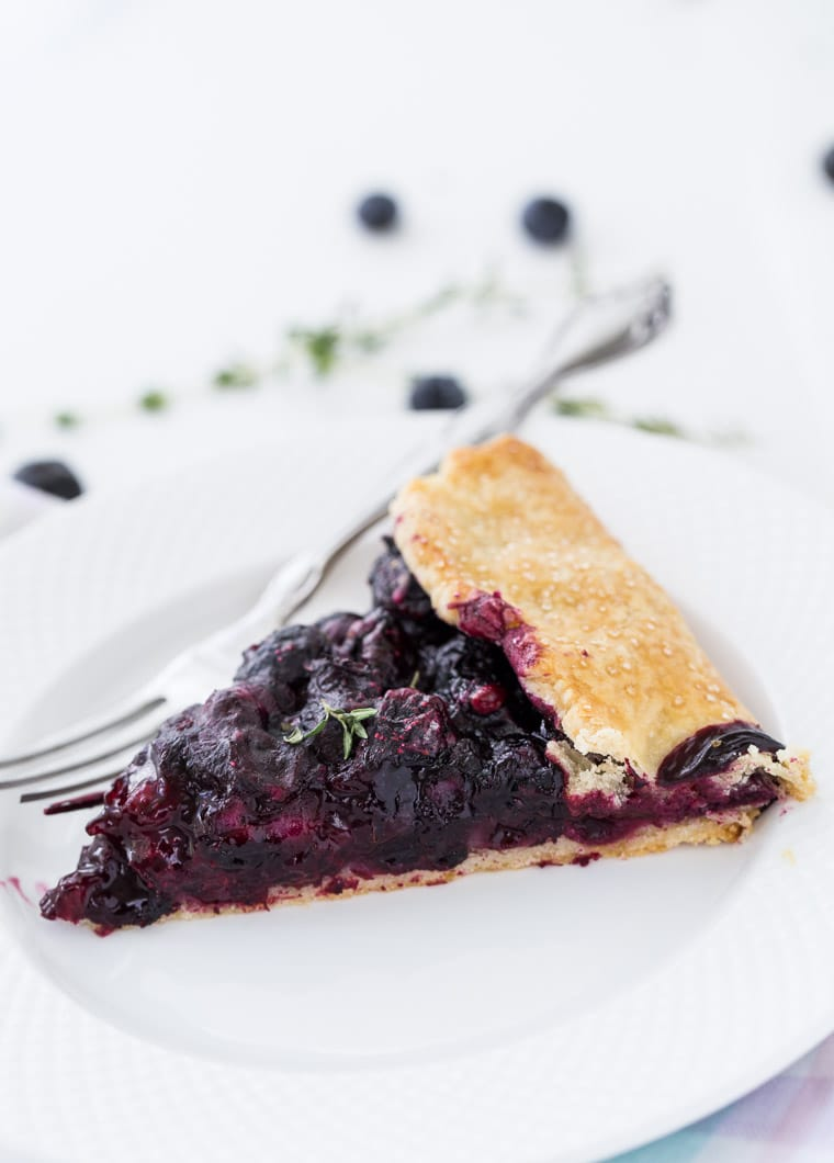 Blueberry Thyme Galette - Blahnik Baker