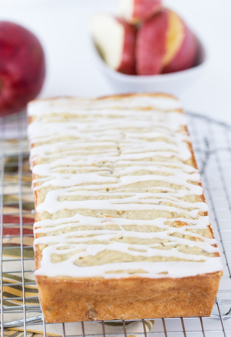 This apple coconut bread is a sweet quick bread recipe with fresh apples and coconut oil and coconut milk for moisture