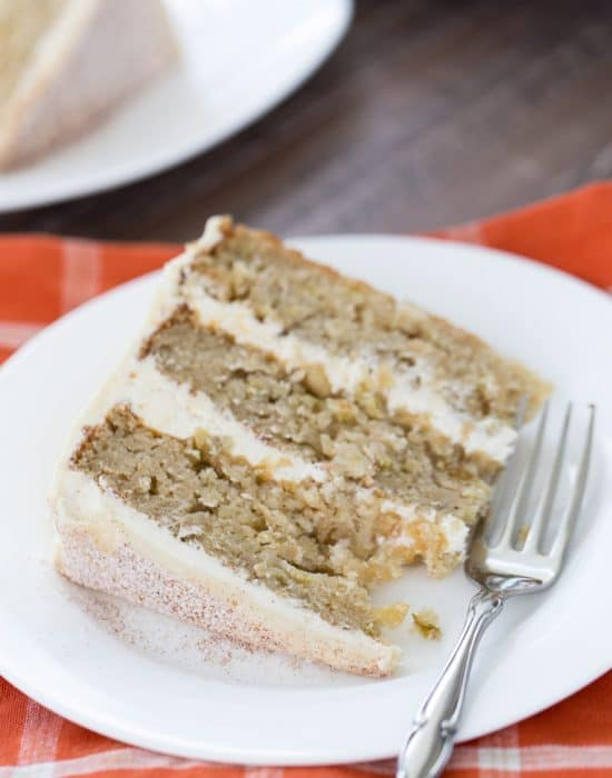 Apple Cider Cake with Malted Vanilla Frosting