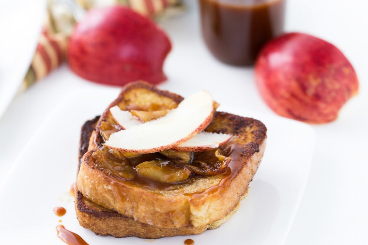 This Coconut Apple Caramel French Toast recipe is sweet and perfect for brunch,