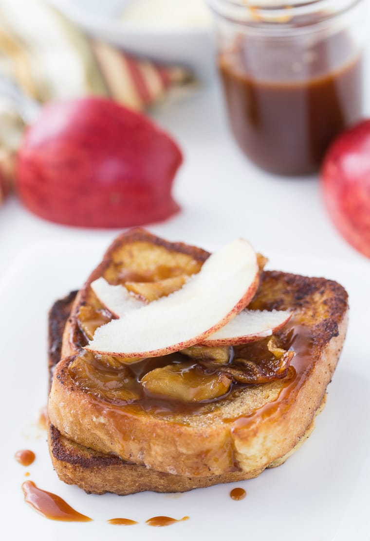 This Coconut Apple Caramel French Toast recipe is sweet and perfect for brunch.