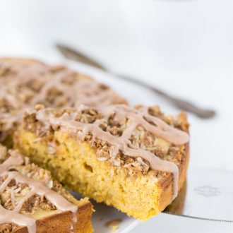 This Pumpkin Spice Latte Coffee Cake puts the coffee in coffee cake with a bold pumpkin flavor and a strong coffee flavor added for an extra kick.