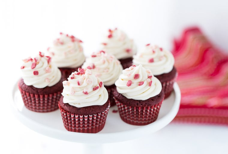 Peppermint Red Velvet Cupcakes