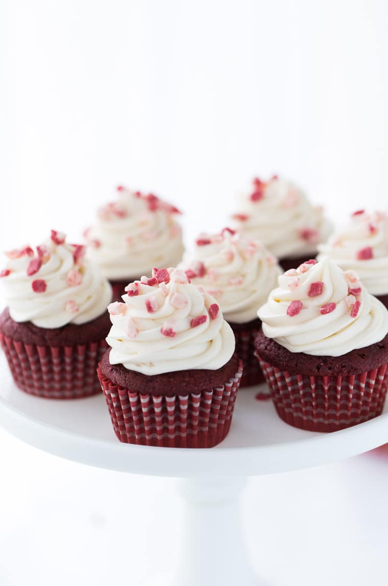 These peppermint red velvet cupcakes are a great combination of moist fluffy cupcakes with hints of chocolate AND peppermint.
