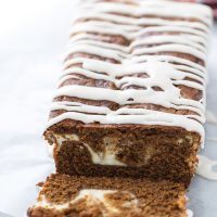 Gingerbread Latte Cake with Maple Glaze