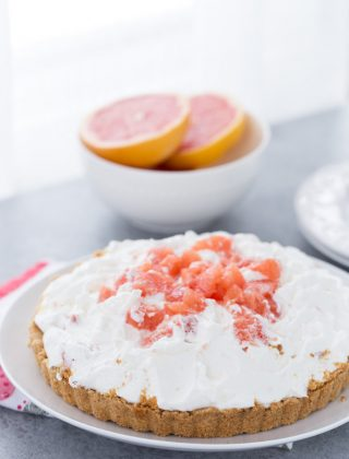 Grapefruit Yogurt Mousse Tart
