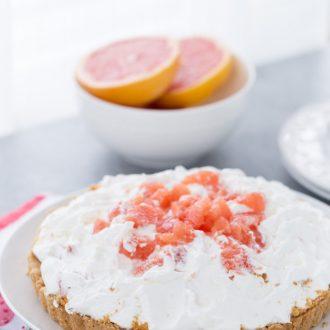 Grapefruit Yogurt Mousse Tart