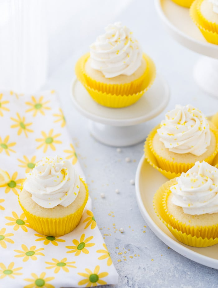 These lemon cupcakes are filled with fresh lemon flavor with lip puckering sweet lemon frosting.