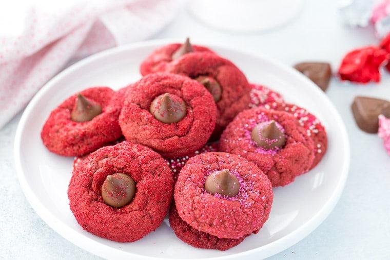 Red Velvet Blossom Cookies