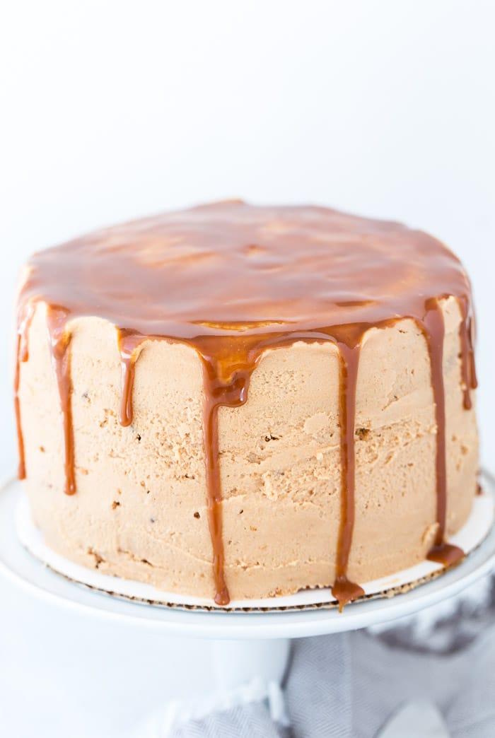 Drunken Whiskey Caramel Cake