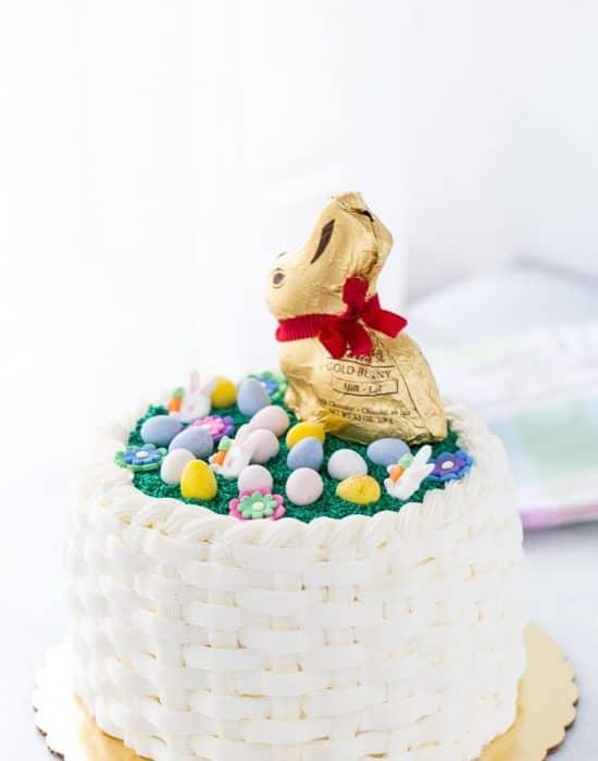 Easter Basketweave Cake