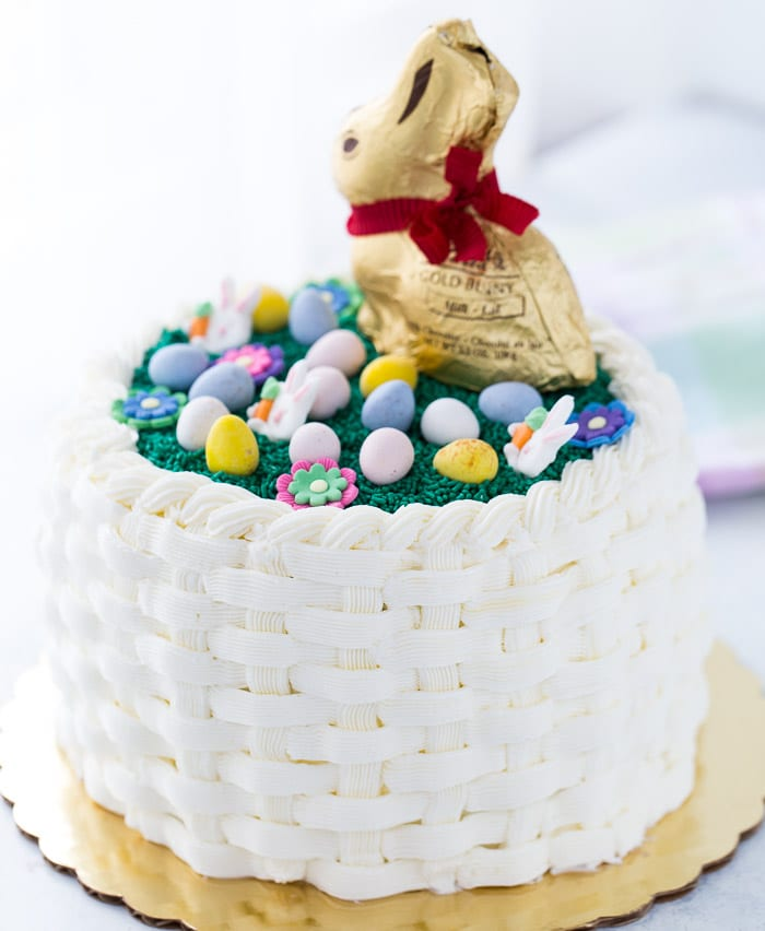 creating a beautiful easter basketweave cake is easier than you think