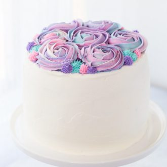 White Chocolate Rose Cake for Mother's Day