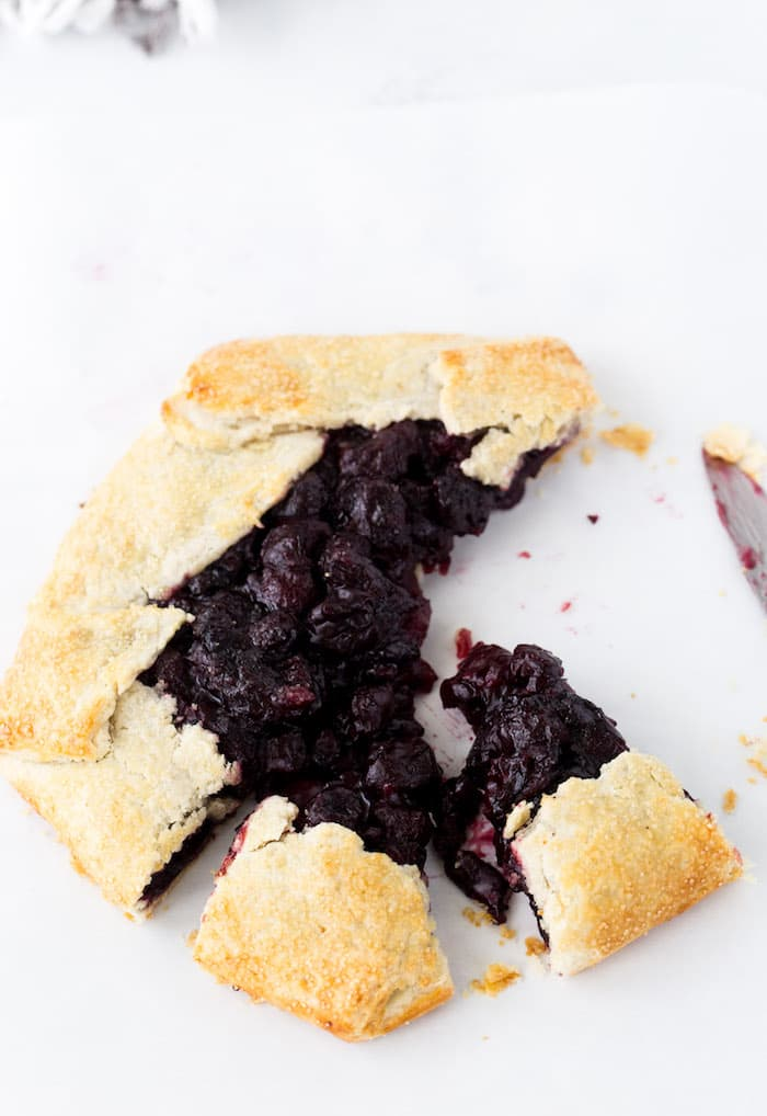 This rustic cherry galette is simple, flavorful and perfect for summer!