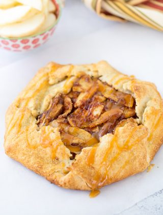 Rustic Apple Galette with Caramel Sauce