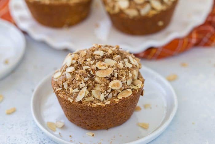 These pumpkin spice carrot muffins are moist, hearty with carrots and walnuts and perfect for fall. Enjoy with a cup of coffee or as a late afternoon snack.