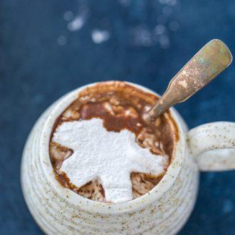 hot chocolate with cardamon marshmallows
