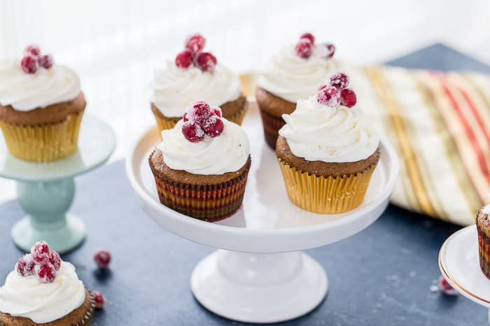 You need these sweet potato cupcakes on your holiday dessert table. They are moist, perfectly spiced and topped with a fluffy frosting.