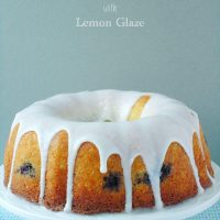 Blueberry Buttermilk Bundt Cake with Lemon Glaze