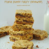 Brown Butter Peanut Butter Paisley Brownies