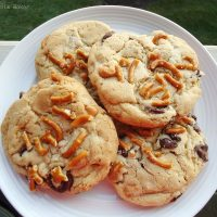 Butterscotch Chocolate Chip Cookies with Pretzels